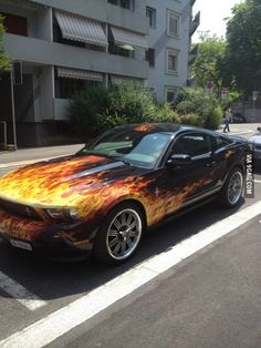 Sweet ride - I've always wanted a car with flames.