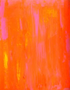 Acrylic Abstract Art Painting Pink, Yellow and Orange - Modern, Contemporary, Original 11 x 14. $16.00, via Etsy.