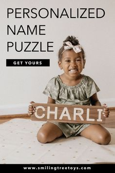 Spell Well Name Puzzles from Smiling Tree Toys are beautiful gifts that kids love to play with over and over! Not only that, but they make a unique nursery decor piece too! #woodtoys Toys For 1 Year Old, Name Puzzle, Childrens Gifts, 1 Year Olds, Beautiful Gifts, To My Daughter, Wooden Toys, Spelling, Special Gifts