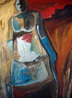 'mary'  acrylic on canvas Lorie McCown