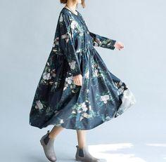 Las mujeres queda suelto otoño largo vestido / largo por MaLieb