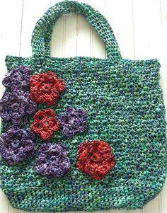 Home Raffia Beach Bag Free Crochet Pattern