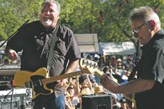 Tempo's 2012 in photos:  Members of Los Lobos have fun playing for a huge crowd at the Taos Solar Music Festival. By Rick Romancito