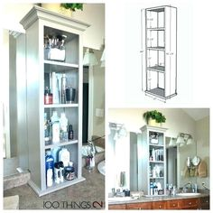 Bathroom Countertop Storage Tower Counter Cabinet Amazing Of Best Vanity