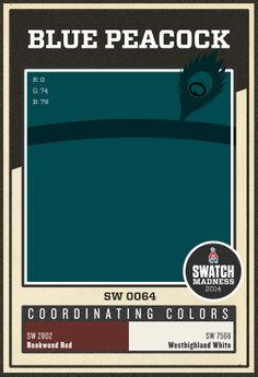 Sherwin-Williams paint color - Blue Peacock (SW 0064)