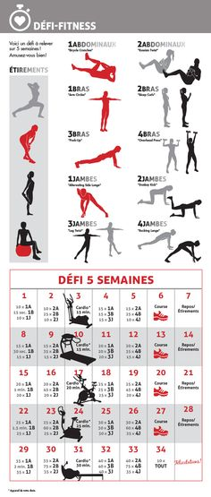 Défi Fitness 5 semaines   5-week fitness challenge