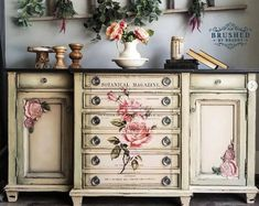 Rub On Transfers For Furniture Furniture Decals ReDesign Decoupage Furniture, Paint Furniture, Repurposed Furniture, Floral Furniture, Rub On Transfers, Dixie Belle Paint, One Design, Decoration, Wall Decals