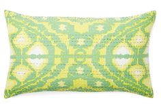 $39 One Kings Lane - Downstairs - Citrus 14x24 Cotton Pillow, Lime