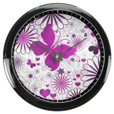 Fun Colorful Butterfly Flower Fractal Pattern Aquavista Clock we are given they also recommend where is the best to buyHow toReview on the This website by click the button below...