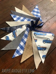 Excited to share this item from my #etsy shop: Little Blue Truck Pennant Banner Retro Blue Truck Fabric Bunting Little Blue Truck Party Banner Vintage Blue Truck Nursery Decor Blue Truck