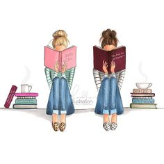 "My two favorite book nerds, ""Sofa Chic"" and ""The Fine Art of Staying In"" Both on…"