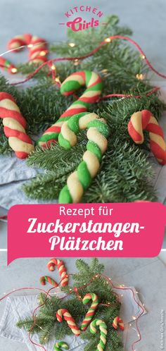 Here you will find the recipe for candy cane cookies and tea .- Hier findest du das Rezept für Zuckerstangen Plätzchen und Tipps wie du sie am… Here you will find the recipe for candy cane cookies and tips on how to best roll them. Candy Cane Nails, Candy Cane Cookies, Candy Cane Coloring Page, Candy Cane Legend, Wal Paper, Oven Vegetables, Candy Cane Crafts, Biscuits, Cupcakes