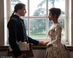 "Dido Elizabeth Belle (Gugu Mbatha-Raw) and John Davinier (Sam Reid) in ""Belle"" Jane Austen, Belle Movie, Sam Reid, Image Film, Beautiful Film, Interracial Love, Movie Couples, Romance, Movie Costumes"