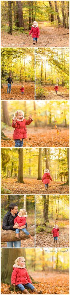 Hersft fotoshoot in het bos. Geweldige kleuren & prachtig licht…