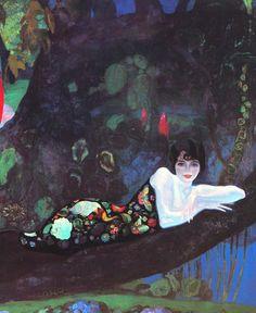 Portrait of Sonia Klamery // Inspiration by Eric Harlem Renaissance, Art And Illustration, Art Deco, Art Nouveau, Modern Art, Contemporary Art, Russian Painting, Western Art, Cat Art
