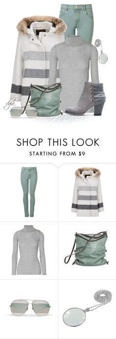 """""""Mint and grey"""" by dgia ❤ liked on Polyvore featuring Amapô, Woolrich, Balmain, Ina Kent and Christian Dior"""