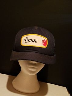 0c79db44ee4 Vintage BRUN hog farm Patch Trucker Hat 70s 80s Snapback black Mesh country  EUC  fashion  clothing  shoes  accessories  mensaccessories  hats (ebay link )