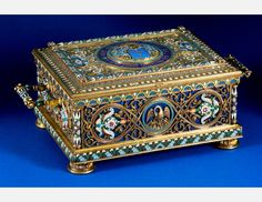 The casket that belonged to a noble Russian family Durnovo, 1889, Russia