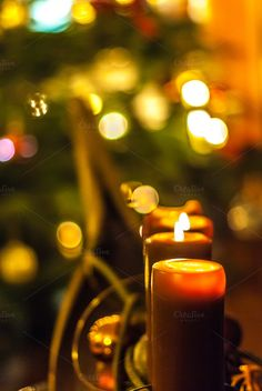 Candles / Christmas by ChristianThür Photography on Creative Market