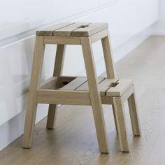 Dania step Ladder Oak - Bolina.no