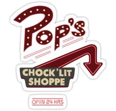 """""""Pop's Riverdale"""" Stickers by kcgfx Stickers Kawaii, Pop Stickers, Tumblr Stickers, Printable Stickers, Pops Diner, Riverdale Poster, Party Deco, Image Tumblr, Riverdale Aesthetic"""