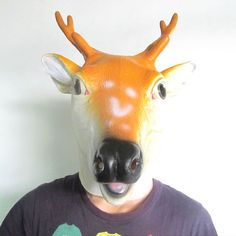 (2) - Masque De Déguisement Halloween Animaux Pour Les Adultes-Cerf