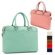 Hit Women Tote Briefcases Laptop Bags Boston Shoulder Handbag Purse Leather