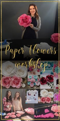 Paper Flowers - Online Workshop. You will learn to make a variety of paper flowers. Downloadable templates and a materials list provided!
