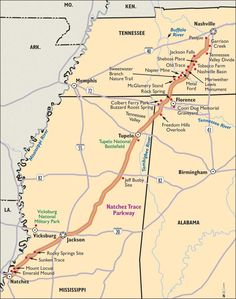 Natchez Trace Parkway We travelled it from Tupelo, Mississippi to Natchez, Mississippi