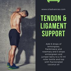 Tendon and ligament pain? I found a lot of relief with this blend of oils. Visit www.oiladvances.com.