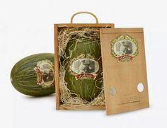Piel de sapo melon in a wooden box