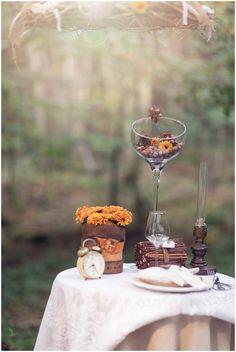 autumn wedding table decorations | Image by LaurenceM Photographe