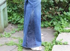 How to make DIY bell bottom jeans instead of buying new ones.