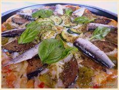Pizza Ratatouille con Sardinillas