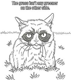 Welcome to Dover Publications / Grumpy Cat Coloring Book / Grumpy ...