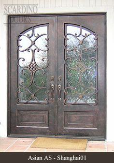 Asian wrought iron door designs