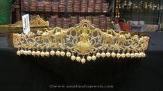 One Gram Gold Covering Ottiyanam, Gold Covering Ottiyanam Designs, Gold Covering Vadanam Designs.
