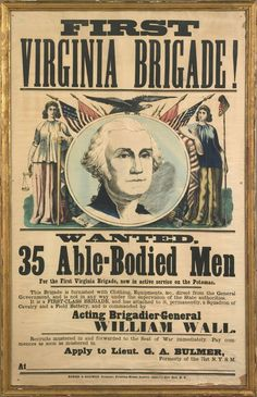 Civil War Recruiting Poster, United States, ca. 1861-1865