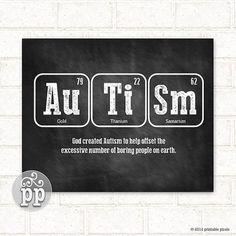 Periodic Table Autism Teacher Art Science Nerd by PrintablePixels