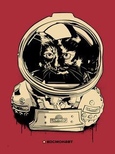 """космонавт Jonesy (Red)"" by N.E."