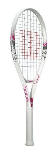 Wilson Sporting Goods Hope Adult Strung Tennis Racket without Cover - http://www.closeoutracquets.com/tennis-racquets/wilson-sporting-goods-hope-adult-strung-tennis-racket-without-cover/
