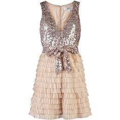 Love my dress <3 Mark + James by Badgley Mischka Sequin Tiered Dress