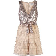 MARK JAMES SEQUIN TIERED DRESS, found on polyvore.com