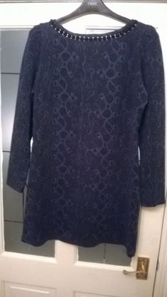 River Island Tunic Top Size 18 in Navy Snakeskin Pattern Heavy Material Snake Skin, River Island, Jumper, Tunic Tops, Navy, Clothes For Women, Winter, Pattern, Sweaters
