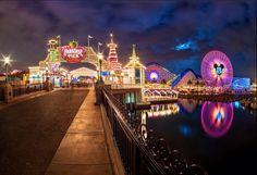 Paradise Pier at DCA at night!!!!