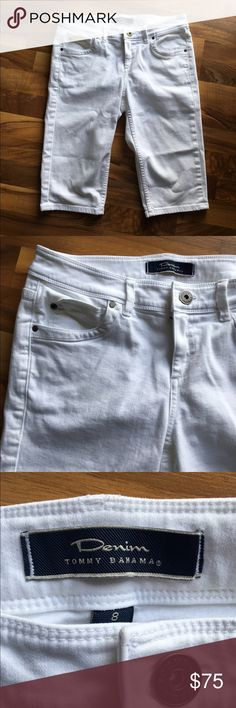 Price drop ⬇️ Tommy Bahama Clam Digger Pant Size 8 Tommy Bahama Clam Digger Pant Size 8 in white. 93% Cotton, 6% polyester, 1% Lycra spandex. Work only once!!! These retail for $110. Reasonable offers appreciated! 😊 **Anything purchased over memorial day weekend will be shipped out Tuesday 5/30.** Tommy Bahama Pants