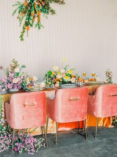 Is Color Officially Replacing Softer Hues for this Season's Wedding Trends! Orange Wedding, Floral Wedding, Wedding Colors, Wedding Flowers, Wedding Trends, Wedding Designs, Wedding Ideas, Diy Wedding, Wedding Inspiration