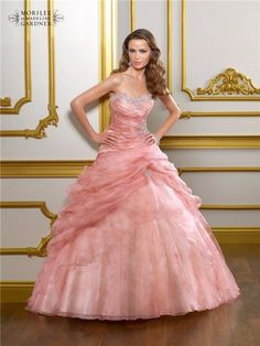 Mori Lee by Madeline Gardner... perfect Cinderella look... ok I would never wear this.. but holy crap....