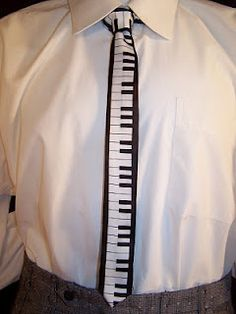 Piano Key Necktie