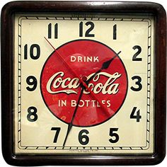 1930 Coca Cola Advertising Clock In Original Wood Case Runs And Keeps Time Coca Cola Decor, Coca Cola Ad, Advertising Signs, Vintage Advertisements, Beer Distributor, Coca Cola Kitchen, Neon Clock, Vintage Coke, Cool Clocks